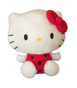 Peluche HELLO KITTY - Rouge Pois noirs - H 25 cm