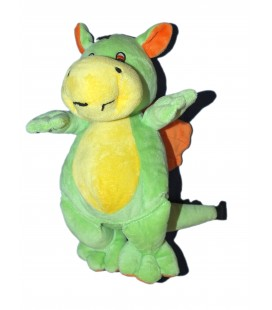 Doudou peluche DRAGON vert jaune orange ALTHANS CLUB 28 cm 5741AL2