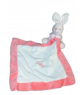 Doudou LAPIN rose 18 cm - CMI Playkids - Mouchoir Baby