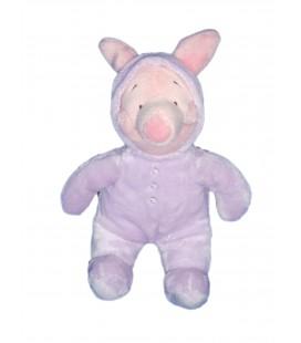 Peluche Doudou - PORCINET Pyjama Capuche mauve - Disney Nicotoy - H 25 cm - 587/0881