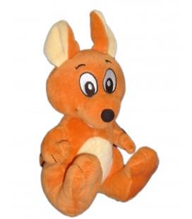 Peluche doudou Kangourou orange WALIBI H 20 cm