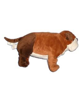 IKEA Doudou peluche CHIEN Bouledogue Gosig Bulldog marron blanc 55 cm