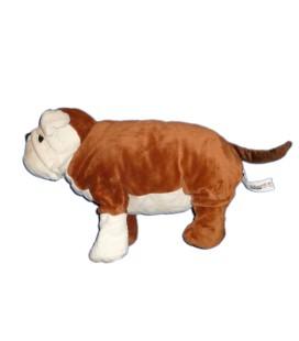 IKEa Doudou peluche CHIEN Bouledogue Gosig Bulldog marron blanc 40 cm