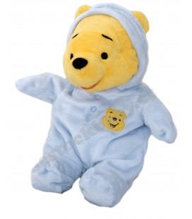 Doudou peluche WINNIE The Pooh - Pyjama bleu - H 30 cm - Disney Nicotoy 5871881