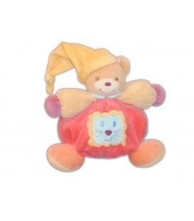 Doudou OURS boule patapouf Kaloo Lion pompons POP 25 cm Grelot