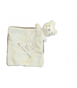 My Tender Doudou plat ours blanc gris elephant My Tender Nicotoy