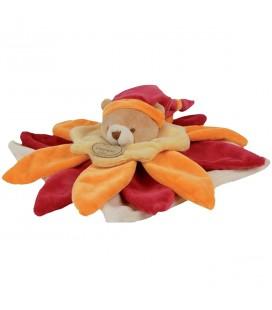 DOUDOU ET COMPAGNIE - Doudou Collector Fleur Orange rouge bordeaux 5822DC1