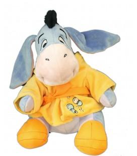 Doudou peluche Bourriquet peignoir jaune bulles 32 cm Disney Nicotoy 587/2497