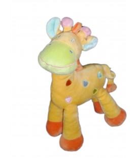 Doudou Girafe Jaune MOTS D ENFANTS 25 cm