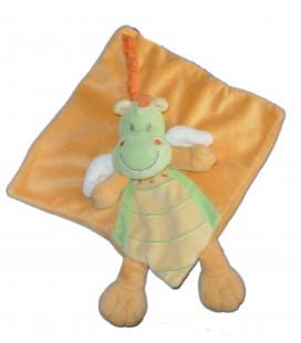 Doudou plat Dragon Dinosaure orange vert - NICOTOY Simba Dickie 16753 579/8851