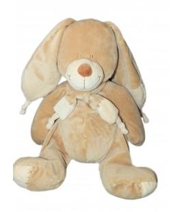 Doudou Peluche Lapin chien beige Bastien Echarpe Croix NICOTOY 579/3526 26 cm