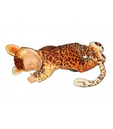 Doudou peluche poupée Léopard Tigre Anne Gueddes - 42 cm