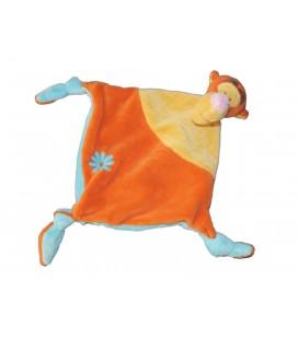 Doudou Plat TIGROU Disney Baby Orange Jaune Et Bleu Kiabi Nicotoy Fleur 5862B8