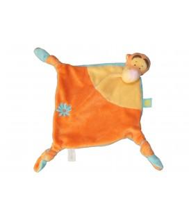 Doudou Plat TIGROU Disney Baby Orange Jaune Bleu Kiabi Nicotoy Fleur 587/8087