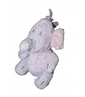 Petit Doudou peluche LUMPY L'Efelant Elephant mauve Disney Store H 14 cm