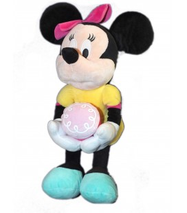 Peluche doudou MINNIE Robe jaune gateau - Disney PTS SRL H 40 cm