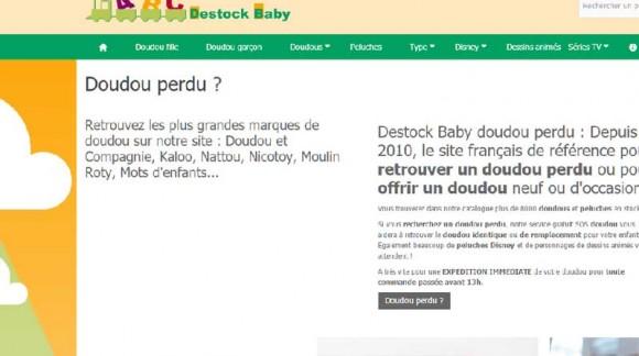 Un nouveau site pour Destock Baby